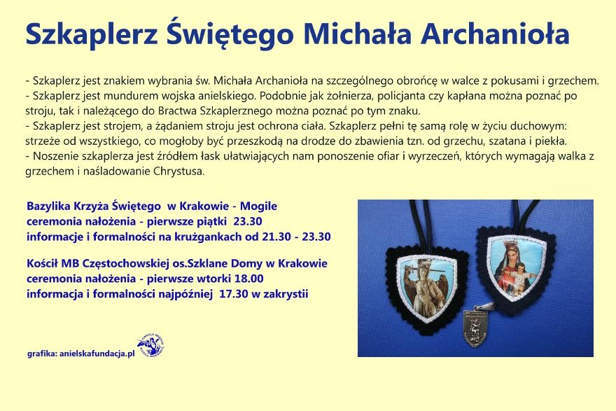 szkaplerz Św. Michała Archanioła .info